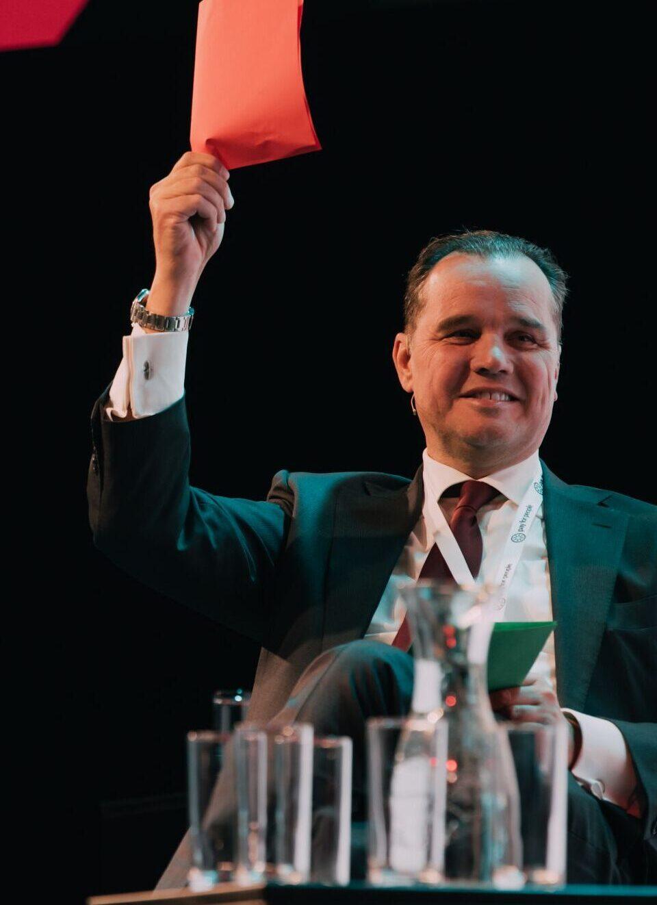 Patrick Bakker tijdensDVDU 2021